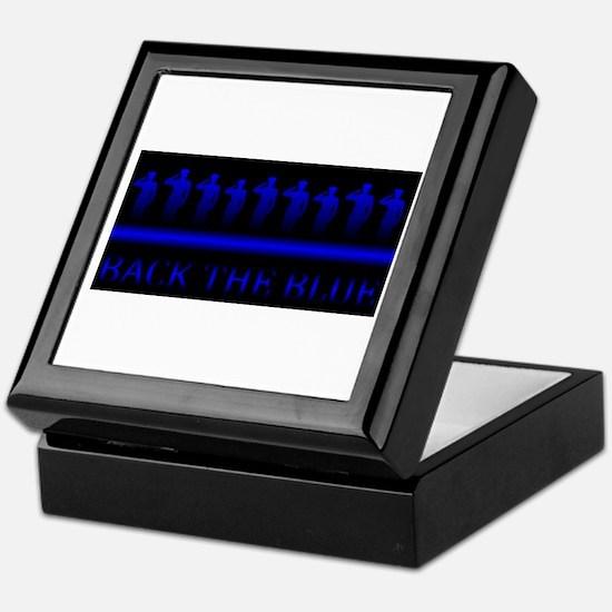 Cute The thin blue line Keepsake Box