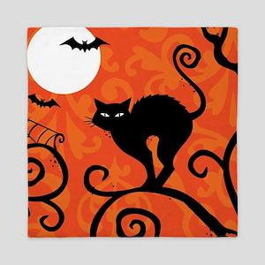 Halloween Cat Queen Duvet