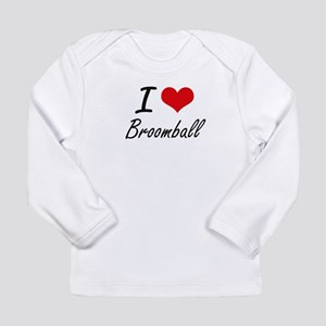 I Love Broomball artistic Desi Long Sleeve T-Shirt