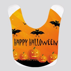 Sunset Bats and Pumpkins Bib
