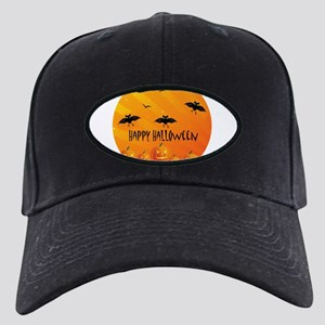 Sunset Bats and Pumpkins Black Cap