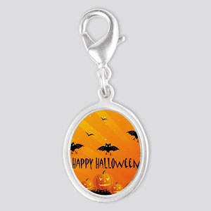 Sunset Bats and Pumpkins Charms
