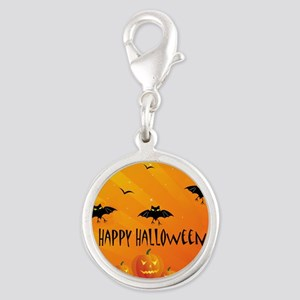 Sunset Bats and Pumpkins Charms