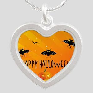 Sunset Bats and Pumpkins Necklaces