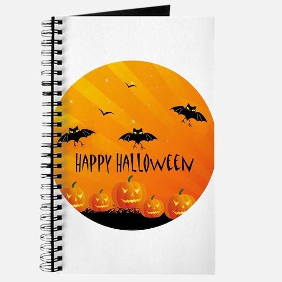 Sunset Bats and Pumpkins Journal