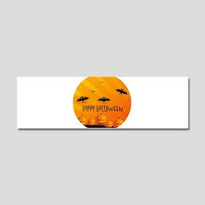 Sunset Bats and Pumpkins Car Magnet 10 x 3