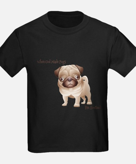 When God Made Pugs T-Shirt
