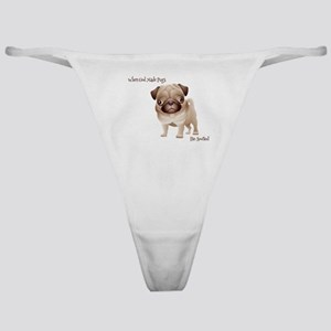 When God Made Pugs Classic Thong