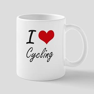 I Love Cycling artistic Design Mugs