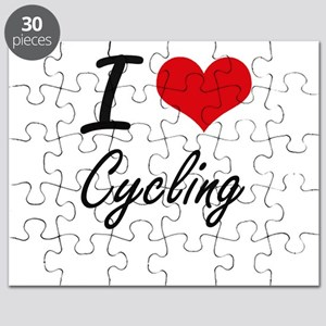 I Love Cycling artistic Design Puzzle