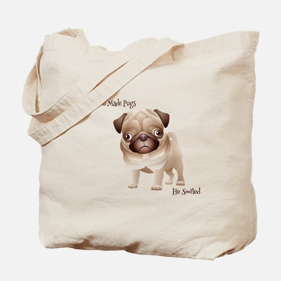 When God Made Pugs Tote Bag