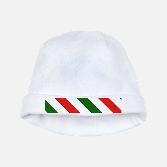 Candy Cane Stripes Holiday Pattern baby hat