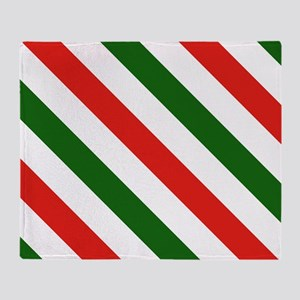 Candy Cane Stripes Holiday Pattern Throw Blanket