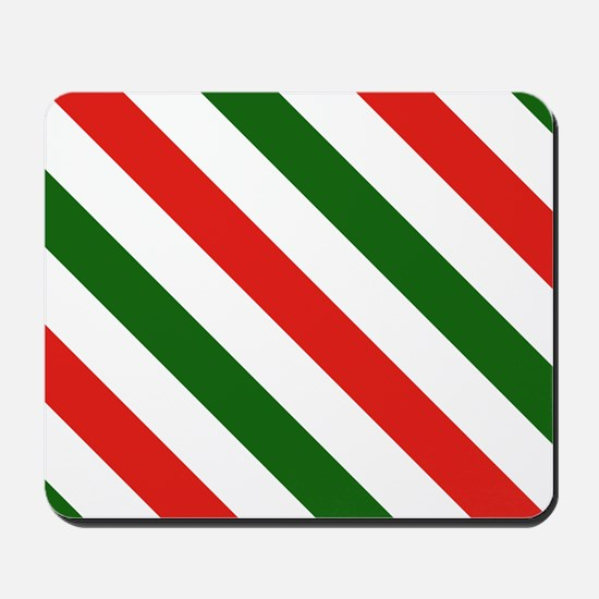 Candy Cane Stripes Holiday Pattern Mousepad
