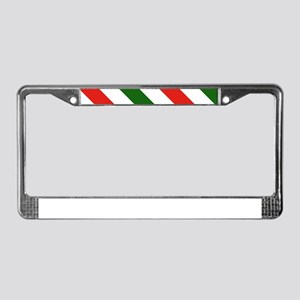 Candy Cane Stripes Holiday Pat License Plate Frame
