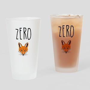 Zero Fox Drinking Glass
