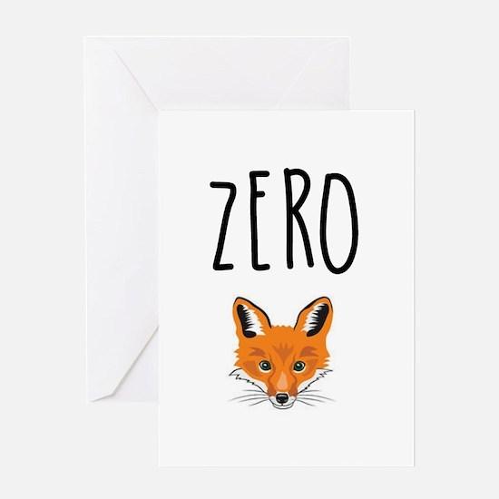 Zero Fox Greeting Cards