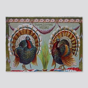 Thanksgiving Greetings 1906 5'x7'Area Rug