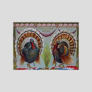 Thanksgiving Greetings 1906 5'x7'Area Rug