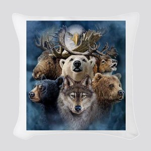 Indian Spirit Guide Woven Throw Pillow