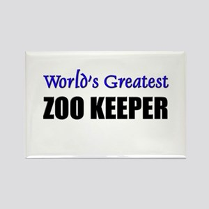 Worlds Greatest ZOO KEEPER Rectangle Magnet