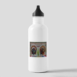 Thanksgiving Greetings 1906 Water Bottle