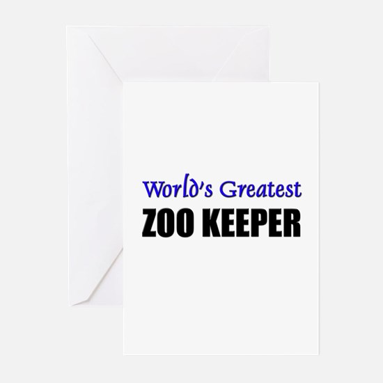 Worlds Greatest ZOO KEEPER Greeting Cards (Pk of 1