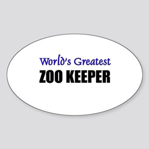 Worlds Greatest ZOO KEEPER Oval Sticker