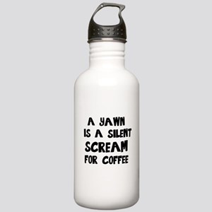 A Yawn is a Silent Scr Stainless Water Bottle 1.0L