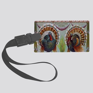 Thanksgiving Greetings 1906 Luggage Tag