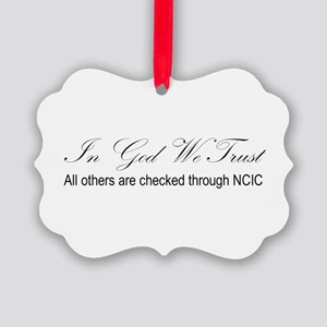 In God We Trust - NCIC Ornament