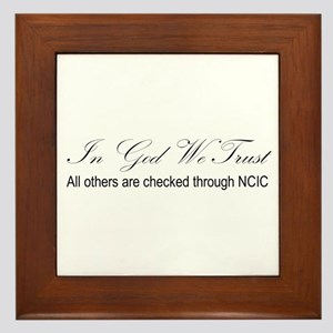 In God We Trust - NCIC Framed Tile