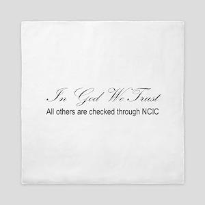 In God We Trust - NCIC Queen Duvet