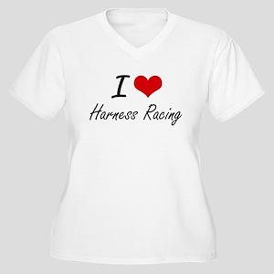 I Love Harness Racing artistic D Plus Size T-Shirt