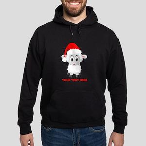 Christmas Santa Sheep Baby Hoodie (dark)