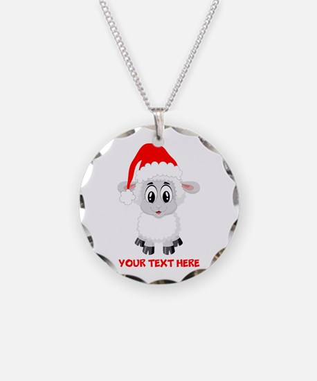 Christmas Santa Sheep Baby Necklace