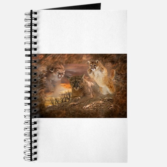 Mountain Lion Collage Journal