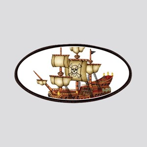 Pirate Ship with Stripes Patch