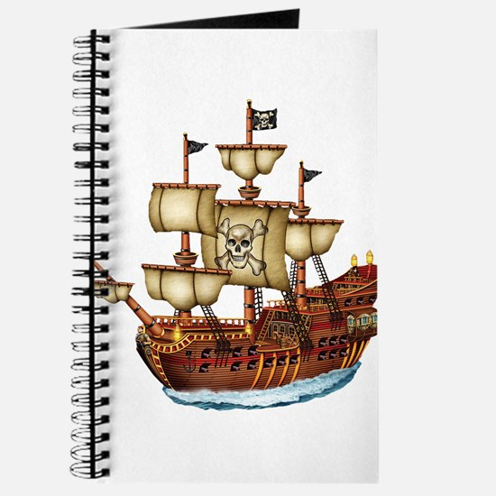 Pirate Ship with Stripes Journal