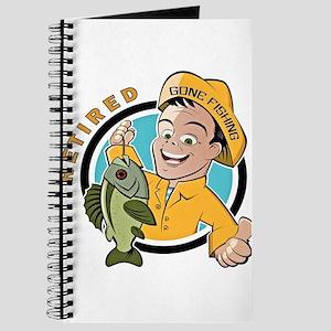 Retired-Gone-Fishing-t-dhirt Journal