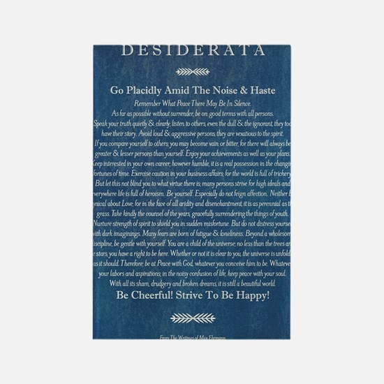 Desiderata on Blue Denim Rectangle Magnet
