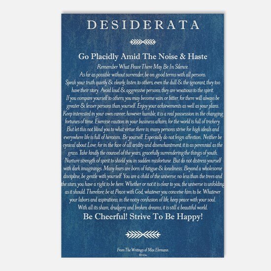Desiderata on Blue Denim Postcards (Package of 8)