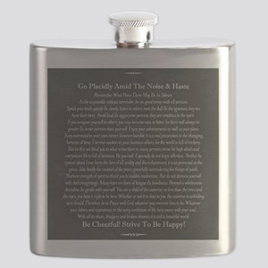 Desiderata Chalk Art on Blackboard Flask