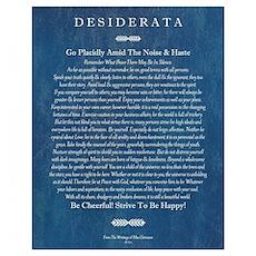 Desiderata on Blue Denim Poster