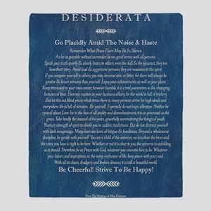 Desiderata on Blue Denim Throw Blanket
