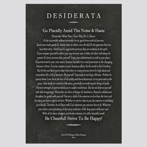 Desiderata Chalk Art on Blackboard
