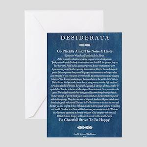Desiderata on Blue Denim Greeting Card