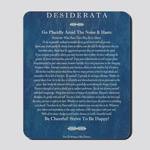 Desiderata on Blue Denim Mousepad