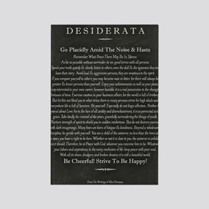 Desiderata Chalk Art on Blackboar Rectangle Magnet