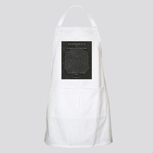 Desiderata Chalk Art on Blackboard Apron